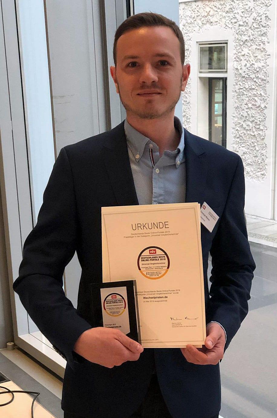 Christoph Wiemer Auszeichnung